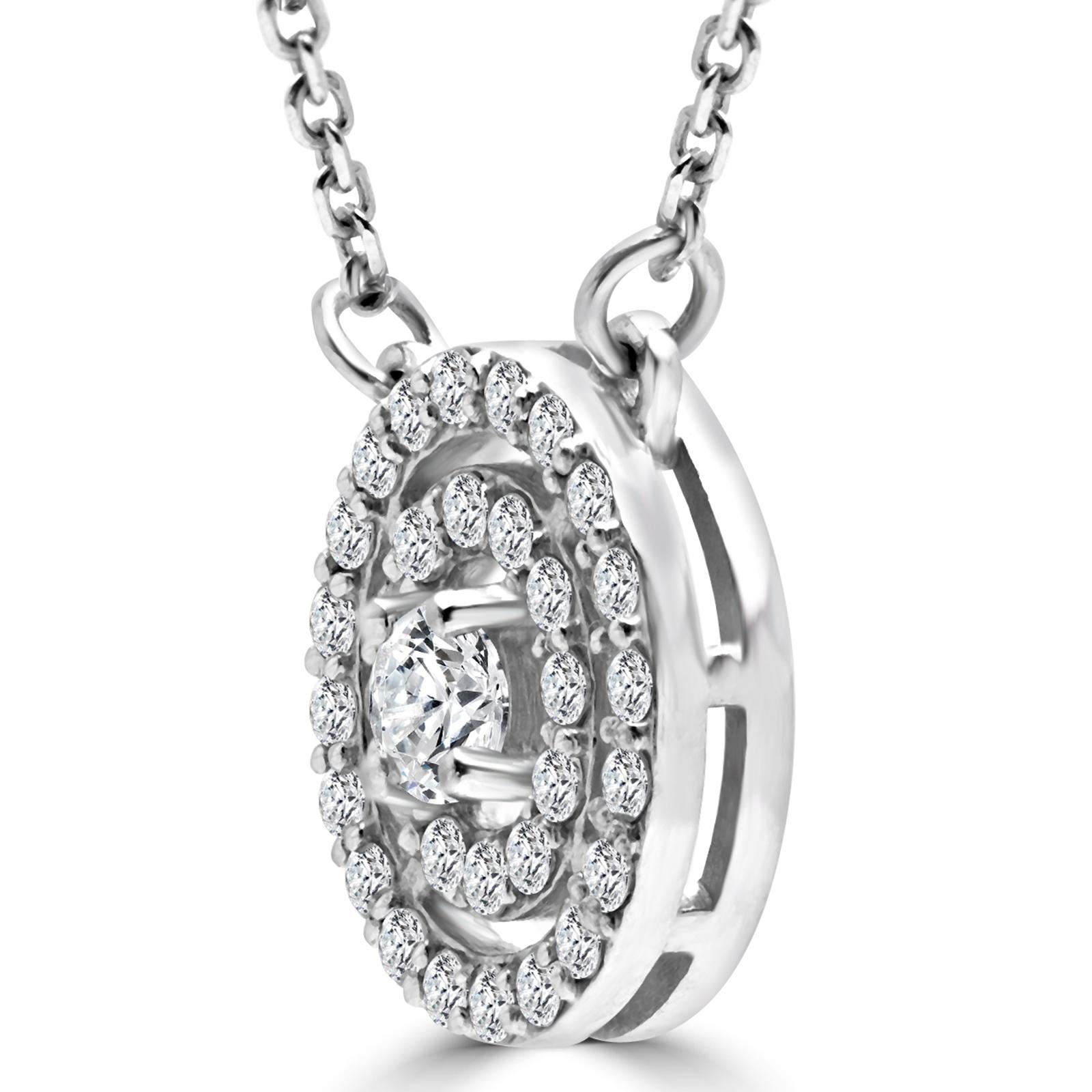 55 ct vs1 e round diamond circle pendant necklace 14k. Black Bedroom Furniture Sets. Home Design Ideas