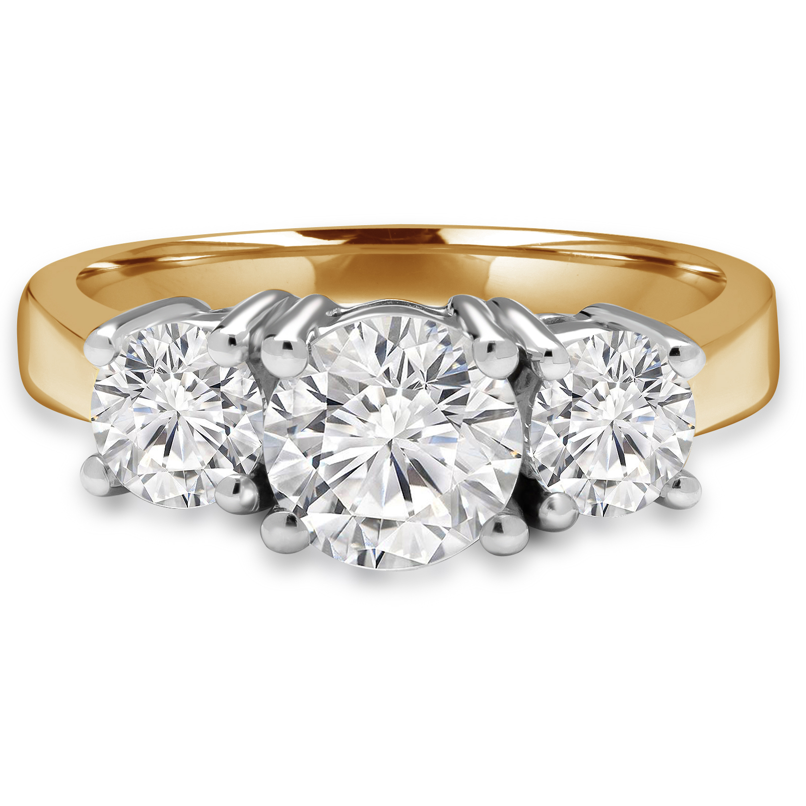 open ring gallery halo engagement gold circle white rings gia round in diamond